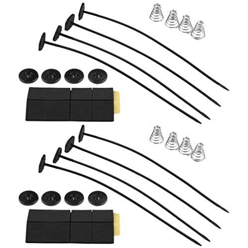 BESPORTBLE 2-Satz-Kühler-Kühlerlüfter-Kit Reversibles Drücken Oder Ziehen mit Montagekit-Zubehör für Fahrzeugauto-Auto