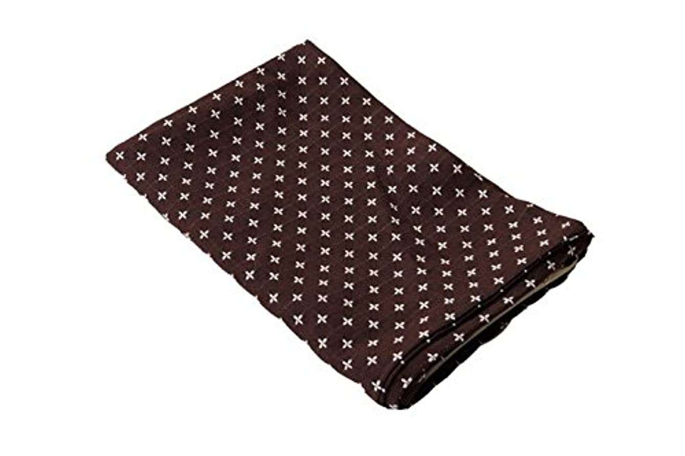 トレッドふさわしい区別銘仙判 座布団カバー「 刺し子 」【DM】約55×59cm ブラウン(#3577599)