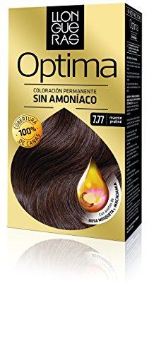 llongueras optima hair colour 7.77 marrón praliné