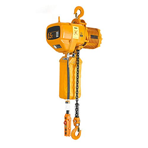 NEWTRY Hook Type Electric Chain Hoist Lift Electric Winch Overhead Lift 110V Single Chain(Load 500KG)