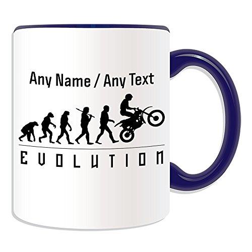 Gepersonaliseerd geschenk - Mok voor motorfietsen (Evolution Design Color) Elk Naam Boodschap op Unieke - Team Speler Outline Olympisch Spel Sport Motorfiets Moto Motorfiets Fiets Race Rider Driver