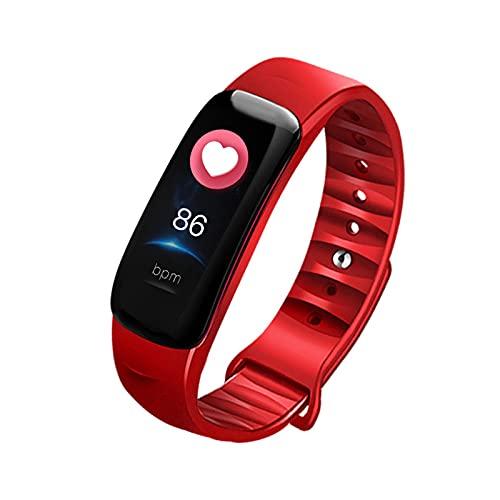 PYAIXF Pulsera Actividad, Ejercicio Saludable con Monitor De Sueño Pulsera Inteligente Calorías Encimera Podómetro por Hombres Y Mujeres 6 Colores-Red