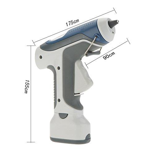 rivalités (TM) original Pro 'skit gk-368 de haute qualité 6 V Hot Melt pistolet à colle sans fil LED pour DIY modèle Living Craft avec 3 pièces bloc Gine