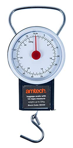 Amtech S6430 Luggage Scale with 1 m Tape