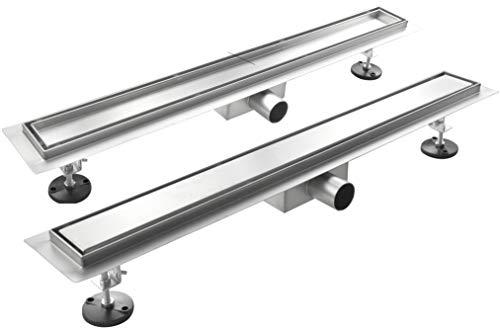 Canalina Di Scarico Per Piatto Doccia A Pavimento Acciaio Inox (70x7 cm, Linea/Piastrellabile)