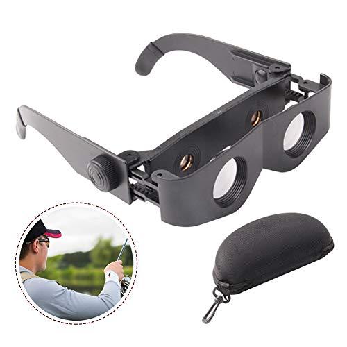 Luanda* Verstelbare Draagbare Bril Ultralight Hand Gratis Vissen Telescoop Vergrootglas - Bril Stijl Telescoop Verrekijker Voor Vissen - Zwarte Bril