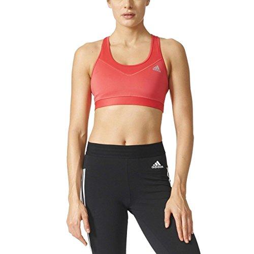 adidas Damen Techfit Base Sport-BH, Core Pink/Matte Silver, M