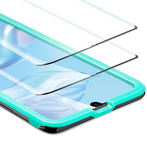 ESR Displayschutzfolie kompatibel mit Huawei P30 Pro Schutzfolie - Panzerglas Schutzfolie mit Full-Screen Abdeckung [2er Pack] - HD Hartglas Folie für Huawei P30 Pro (2019)