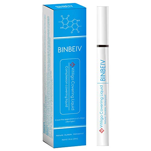 BINBEIV Vitiligo Makeup Cover Liqui, Vitiligo Concealer, natural-durable-waterproof, Used on face, hands and body