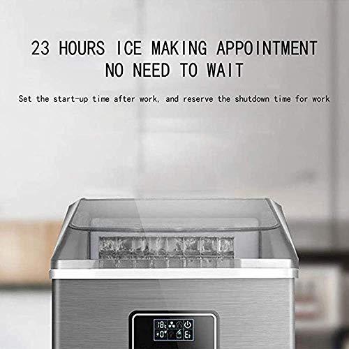 41g9V5qeBiL - SEESEE.U Eismaschine, quadratische Eiswürfel in 12-20 Minuten fertig, 25 kg EIS in 24 Stunden herstellen, tragbare kleine Eiswürfelbereiter für Arbeitsplatte Home Bar Perfekt für Partys Mixgetränke