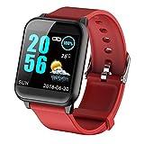 APCHY Smart Watch,Monitores De Actividad De 1.3 Pulgadas Pantalla De Color Presión Arterial Monitoreo De Ritmo Cardíaco Bluetooth,Monitoreo del Sueño Salud, Pulsera Deportiva, Cronómetro,D