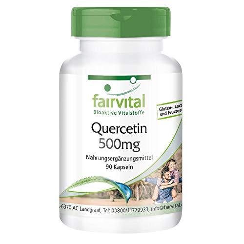 Quercetin 500mg Kapseln- HOCHDOSIERT - VEGAN - 90 Kapseln - Antioxidans
