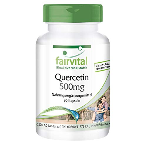 Quercetin 500mg - Bulk Pack for 3 Months - Vegan - HIGH Dosage - 90 Capsules - antioxidant