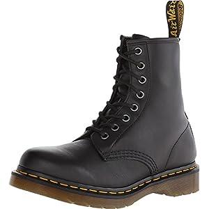Dr. Martens Womens 1460 W Black Nappa 8 Eye Boot