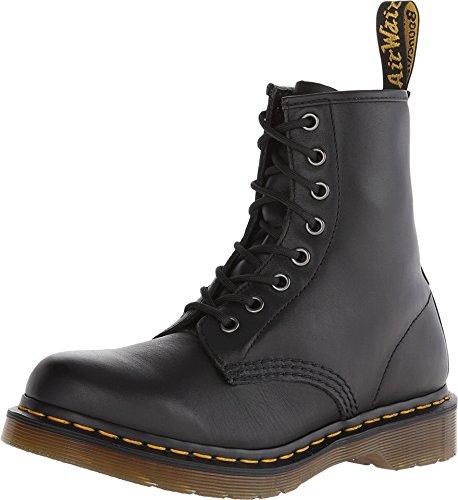 Dr. Martens Women s 1460 W Nappa Combat Boot, Black, 9