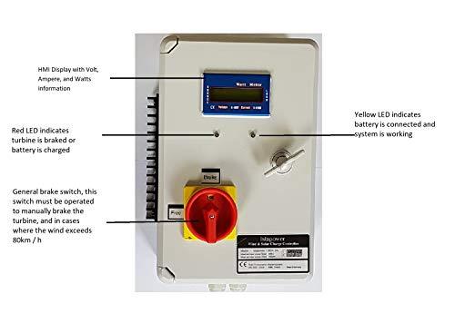 HYBRID LADEREGLER IstaBreeze® VARIATION 12V-24V-48V, i/HCC 800 oder 1000W f. WINDGENERATOR (24 Vdc - 1000 WATT)