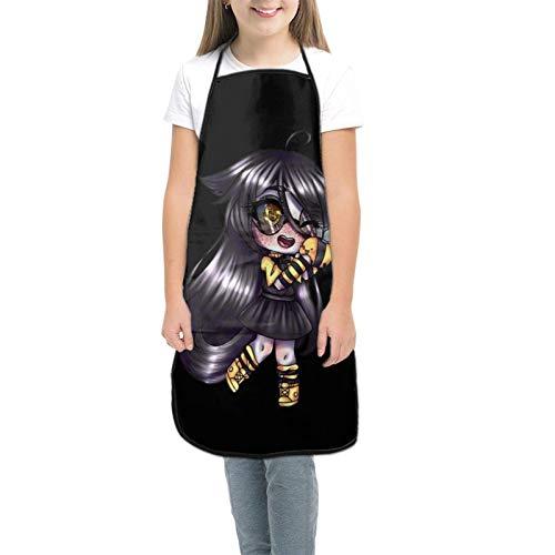 Ga-Cha Li-Fe Kids Tabliers pour enfants pour la cuisine, la pâtisserie, le jardinage, les arts et les travaux manuels - Pour enfants de 3 à 8 ans - Noir - petit