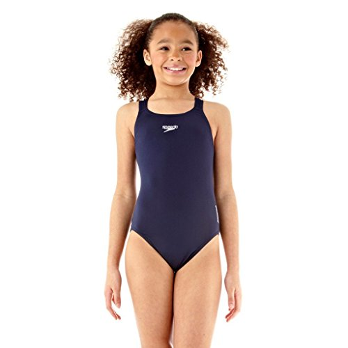 Speedo Medalist Endurance Maillot 1 pièce Fille Marine FR : 14 ans (Taille Fabricant : 14A)