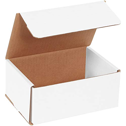 Aviditi White Corrugated Cardboard Mailing Boxes, 7' x 5' x 3', Pack of 50, Crush-Proof, for Shipping, Mailing and Storing