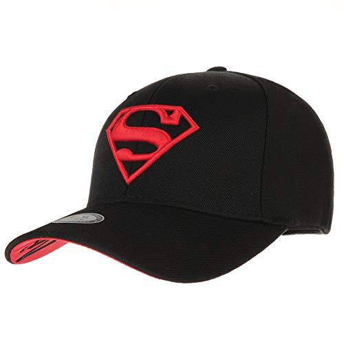 WITHMOONS Baseballmütze Mützen Caps Kappe Superman Shield Embroidery Cotton Baseball Cap AC3260 (Black, L)