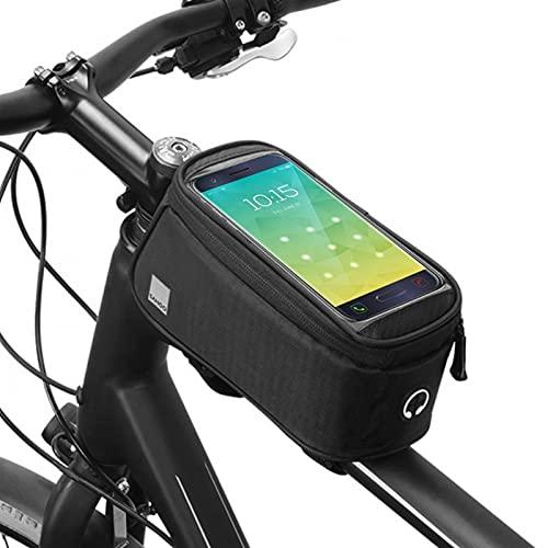 ACEACE Bicicleta Delantera Delante del Tubo Manillar Tenedor de teléfono móvil Pannier Pouch MTB Pack Accesorios de Bicicleta (Color : Black, Size : 1 pcs)