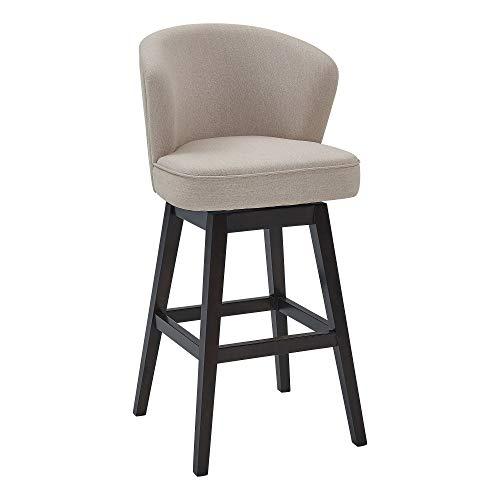 Armen Living Genesee Swivel Kitchen Bar stool, 30' Height, Tan