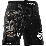 SMMASH Wotore Gorilla Deporte Profesionalmente Ultraligero Pantalones Cortos MMA para Hombre, Shorts MMA, BJJ, Grappling, Krav Maga, Material Transpirable y Antibacteriano, (M)