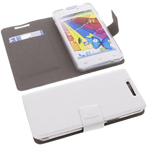 Tasche für Mobistel Cynus E5 Book Style Ultra-dünn Schutz Hülle Buch Weiß