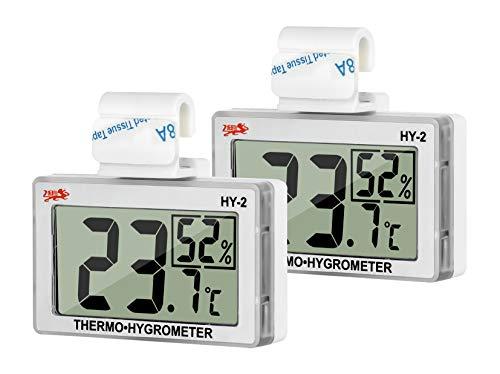 GXSTWU 温度計 爬虫類 湿度計 デジタル HD液晶 ベルクロ フック付き 温湿度計 爬虫類タンク テラリウム 飼育室 ビバリウム用 (二本セット)