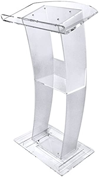 C Style Acrylic Lectern With A Frosty Finish