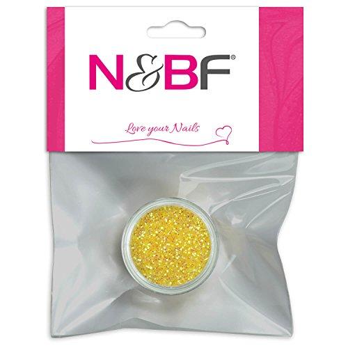 N&BF Nailart Neon Glitterpuder | Yellow (Gelber Glitter) | Nailart Glitter für unvergessliche Looks | Glitter Puder für Nailart | Glitterpulver für effektvolle Farbakzente