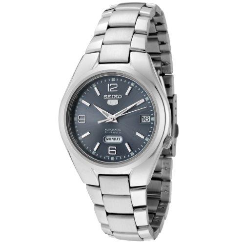 Seiko Herren Analog Automatik Uhr mit Edelstahl Armband SNK621K1