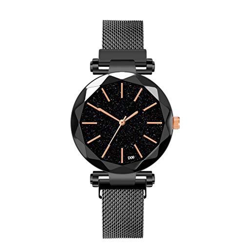 Neuer Trend Damen Uhren Armbanduhr, Frauen Klassisch Einfache Casual Geschenk Analog Quarz Uhren mit Mesh-Metallarmband Uhr Armband Watches LEEDY