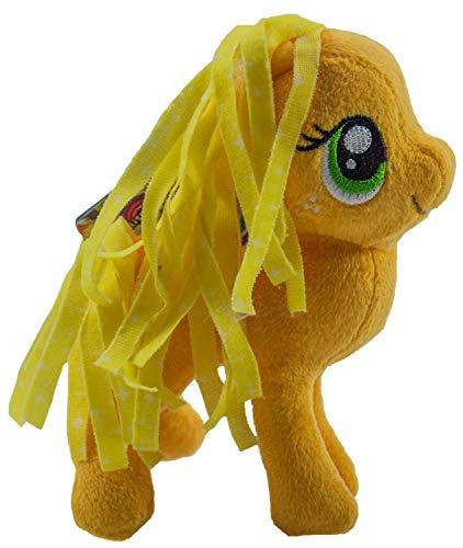 MLP My little Pony paard 12 cm pluche figuur, knuffel voor kinderen, meisjes en jongens, voor verzamelen, knuffelen en spelen (Fluttershy, geel)  (Applejack)