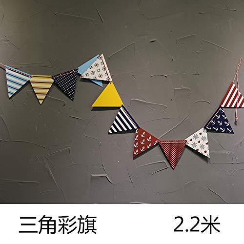 T-QTBG Gittermauer-Gitterdekoration des dekorativen Fotowandschmiedeeisensiebemädchen, Dreieckflagge