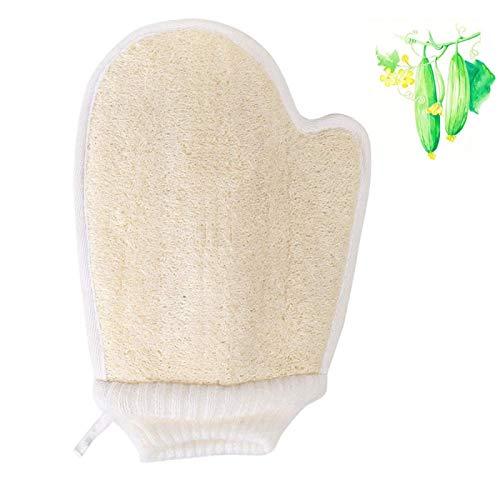 Esponja Exfoliante natural de Lufa, Exfoliante de lufa para la espalda, Loofah guante exfoliante, Piel Cercana para Mujeres Hombres Ideal para Baño Spa y Ducha, 1 piezas