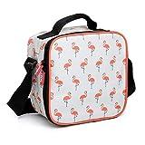 Tatay Flamingo Bolsa térmica Porta Alimentos con tapers, Blanco y Naranja,...