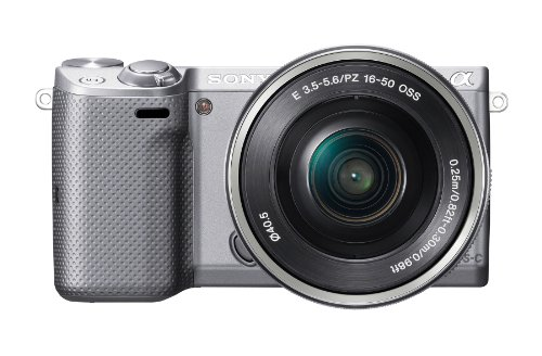 Sony NEX-5TL/S Mirrorless Digital Camera with 16-50mm Power Zoom Lens (Silver)