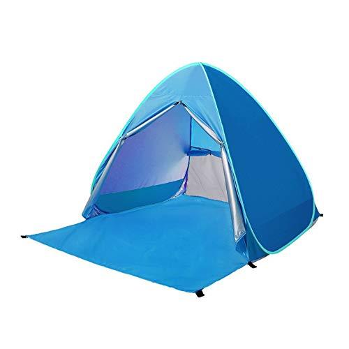 Automático Pop Up Beach Carpa portátil Anti-UV Refugio Tienda de campaña Plegable Carpa con FPS 50+ para Protección Solar UV (Azul)