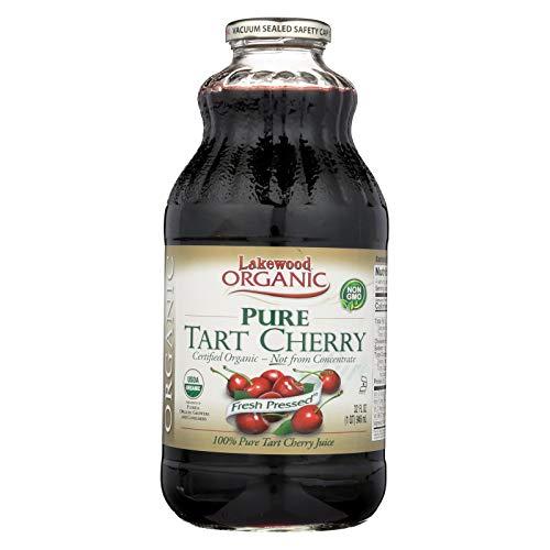 Lakewood Organic Pure Tart Cherry Juice, 32 Fluid Ounce -- 12 per case.