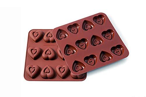Silikomart Wonder Cakes by 22.506.77.0069 Moule en Silicone, Forme Coeur, Marron, 1,2 x 15,5 x 16,3 cm