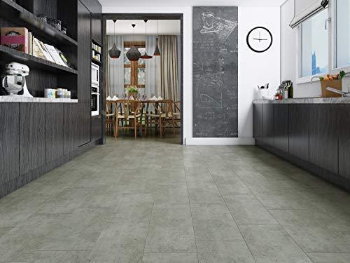 Klicken Luxus starrer Kern LVT Vinyl Click Easy Fit Fliesen 100% wasserdicht für Küche Bad Lounge, grau