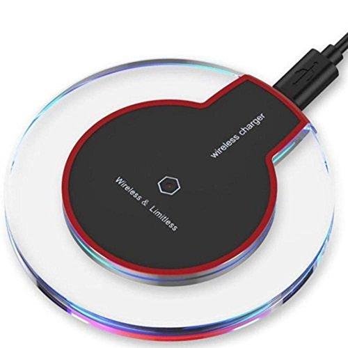 Mamum Station de charge sans fil pour AppleChargeur sans fil transparent Mamum, chargeur Qi sans fil pour Samsung Galaxy S9. Taille unique Noir