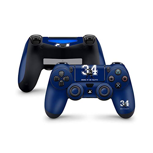 ZOOMHITSKINS PS4 Controller Skin, Blue Canadian Ice Hockey Sports Skate Man Players Team White Gloss, High Quality, Durable, Bubble-free, Goo-free, Fit PS4 Regular, Pro, Slim Controller, Made in USA