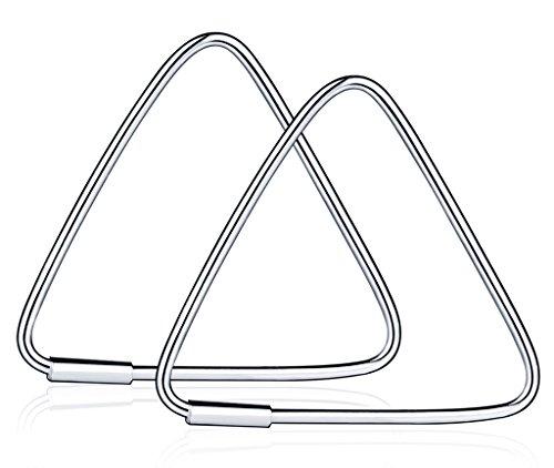 Unendlich U Fashion Dreieck Damen Creolen 925 Sterling Silber Ohrhänger Geometrische Ohrringe Ohrschmuck, 1 Paare