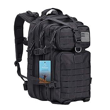 Prospo 40L Military Tactical Shoulder Backpack Assault Survival Molle Bag Pack Fishing Backpack for Tackle Storage  Black