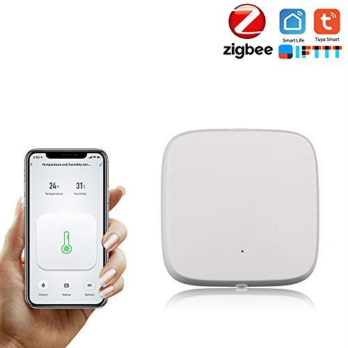 Topuality Tuya Smart ZigBee-Temperatur-Feuchtigkeitssensor Hochgenauer T & H-Sensor Arbeiten mit der Gateway Hub Home Automation-Szene