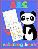 ABC coloring book: pand_A to Z letters ready for coloring and writing with examples for each one
