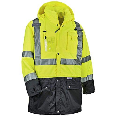 Ergodyne GloWear® 8386 Type R Class 3 Outer Shell Jacket, Lime, M