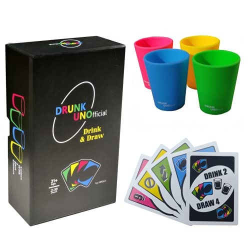 Drunk Unofficial Game Set with Shot Glasses - Fun Drinking Games...